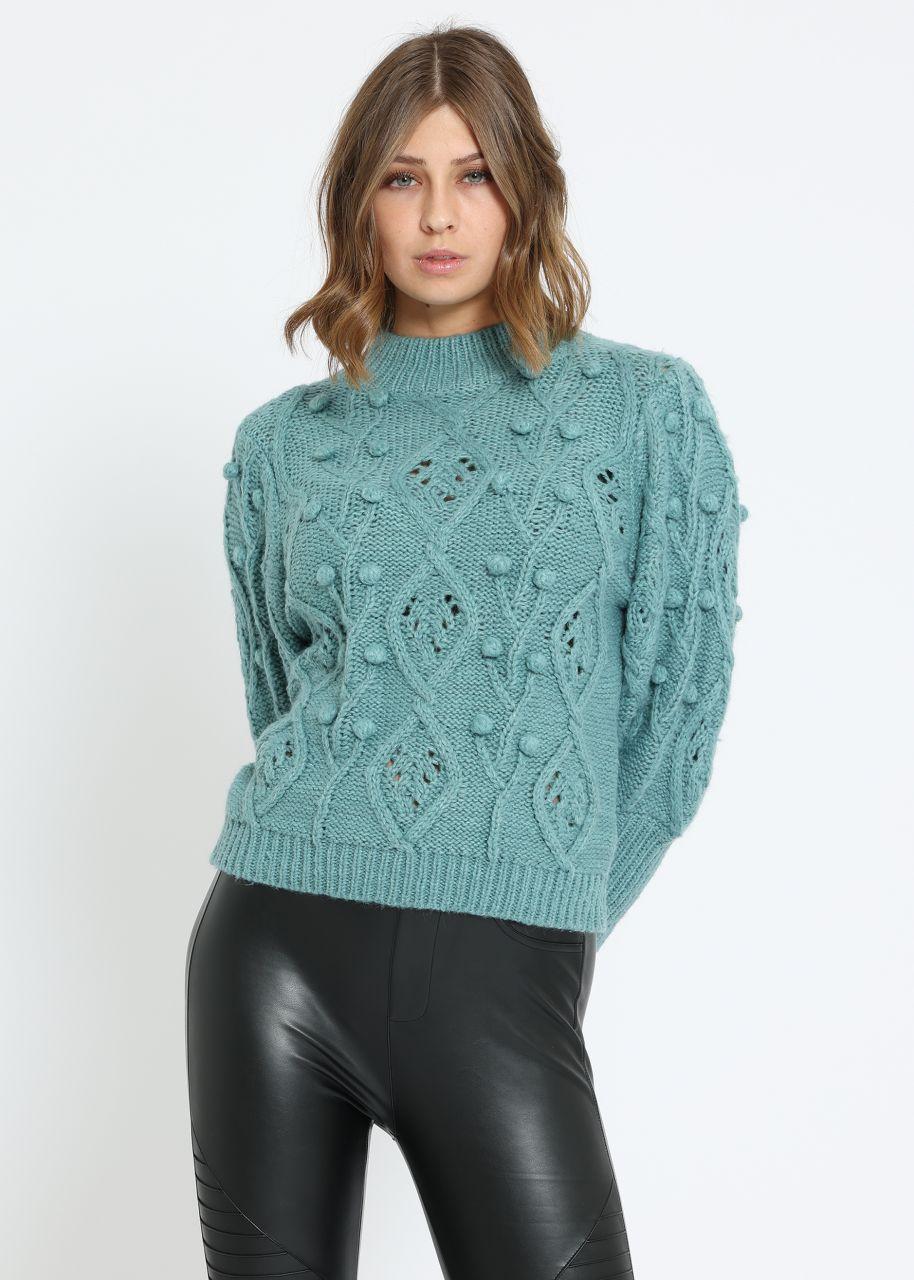 Pullover mit attraktivem Muster, grün