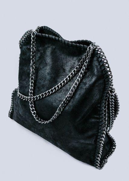 Große Umhängetasche, schwarz