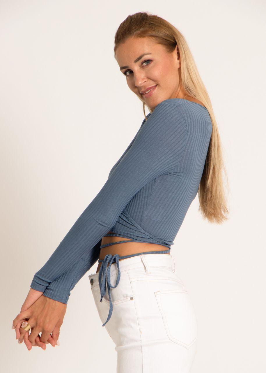 Wickel-Shirt, blau