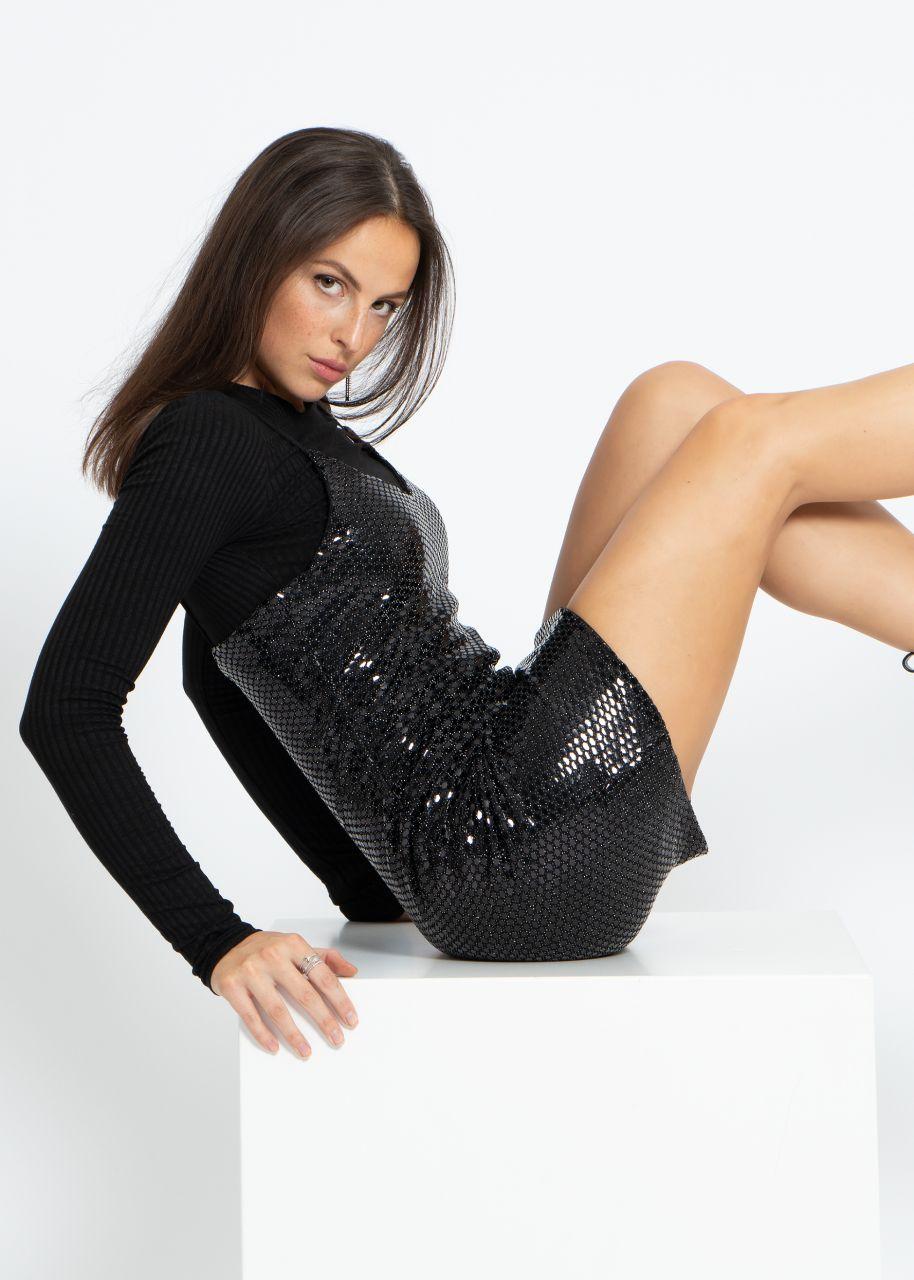 Slip-On Kleid, schwarz