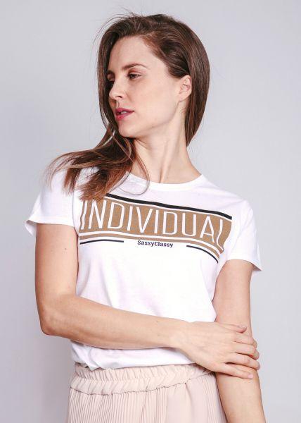 "T-Shirt ""INDIVIDUAL"", weiß"