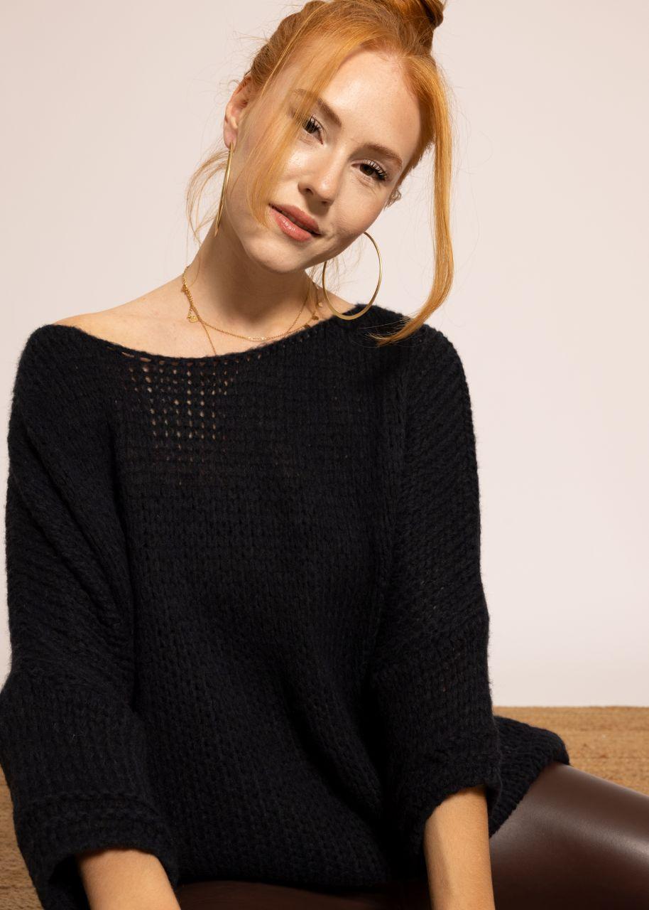 Oversize Pullover, dunkelblau