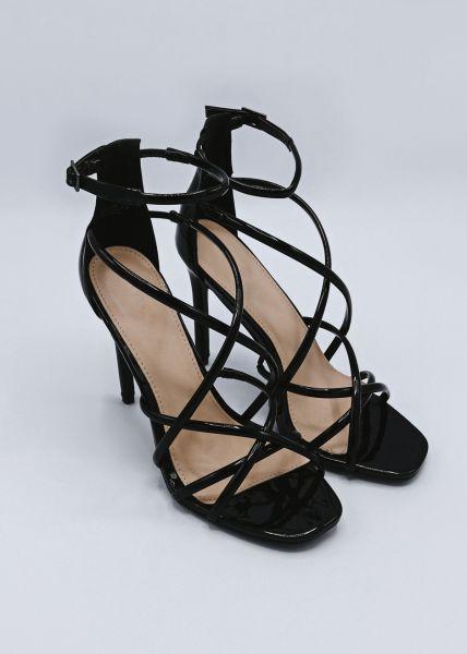 High Heel Sandalette, schwarz