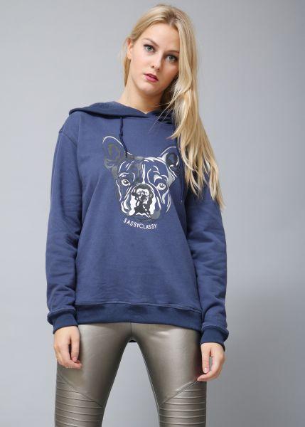 Frenchie-Sweatshirt, blau