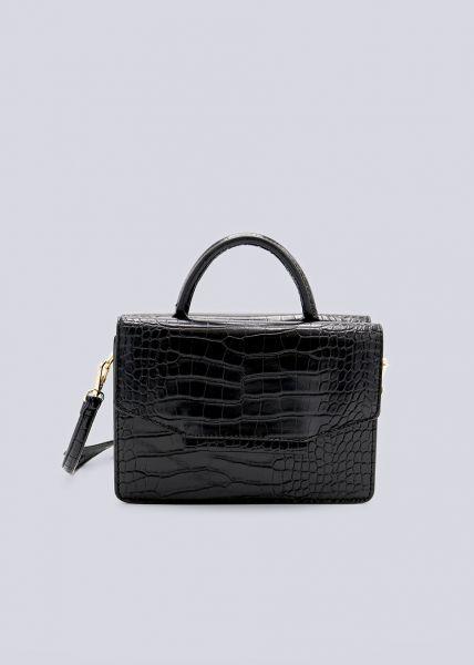 Kroko-Bag, schwarz