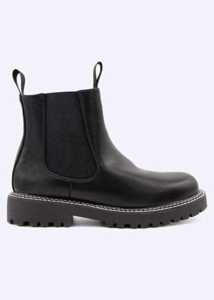Chelsea-Boots, schwarz