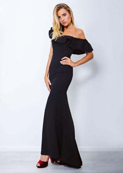 Bardot-Abendkleid, schwarz
