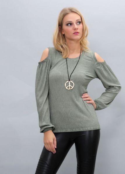 Cut-Out Shirt, khaki