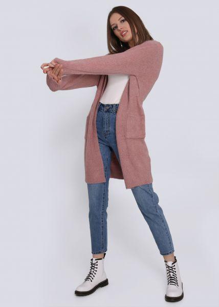 Cardigan mit Taschen, rosa