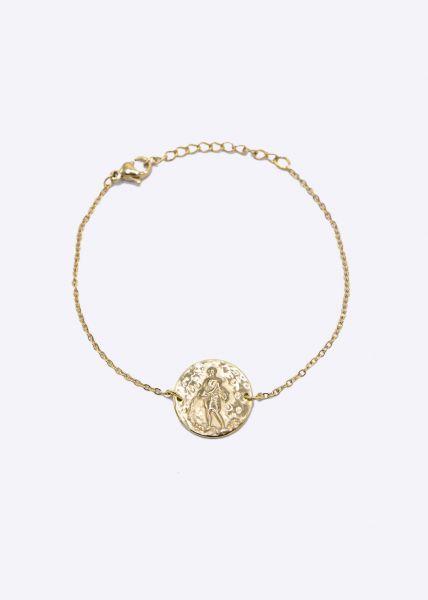 Armkette mit Sternzeichen Wassermann, gold