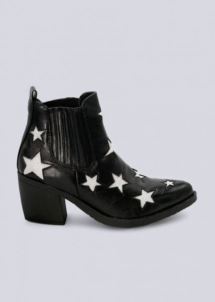 Cowboy-Boots mit Sternen, schwarz