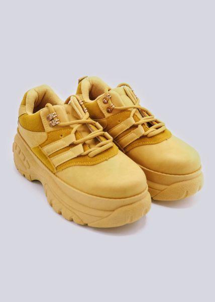 Plateau-Sneaker, gelb