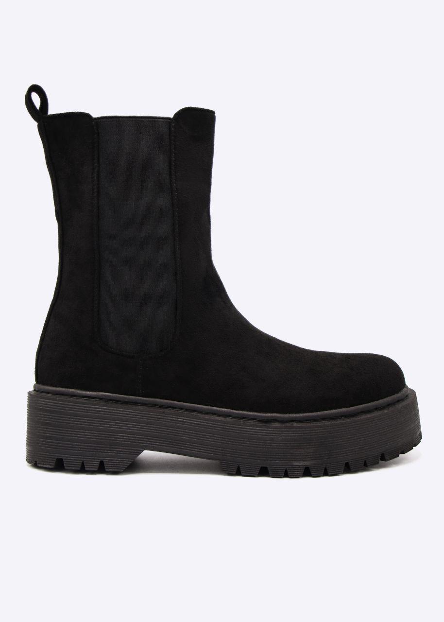 Combat-Boots, schwarz