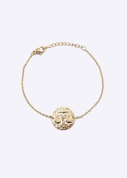 Armkette mit Sternzeichen Waage, gold