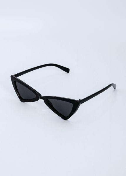 Kleine, eckige Sonnenbrille, schwarz