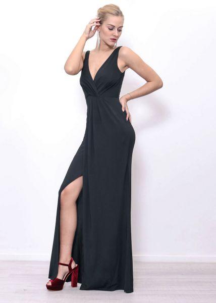 Fliessendes Abendkleid, schwarz