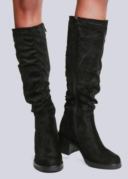 Kniehoher Stiefel, schwarz