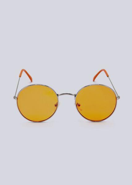 Runde Sonnenbrille, orange