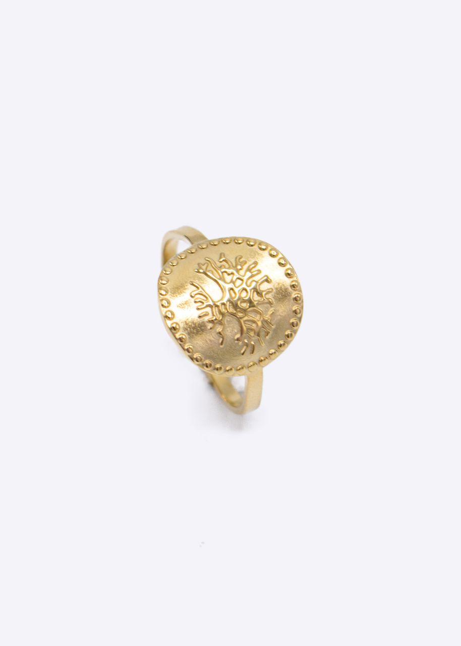 Ring mit Ornament, gold