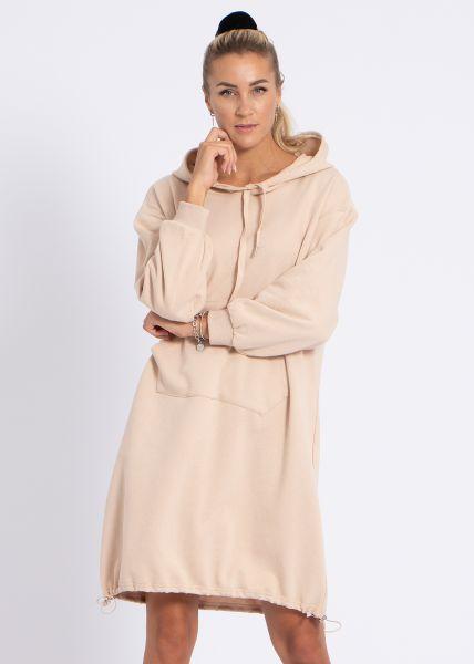Oversize Loungewear-Kleid, beige