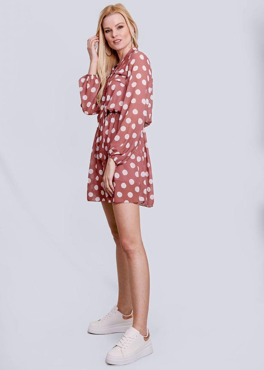 Tupfen-Kleid, rosa