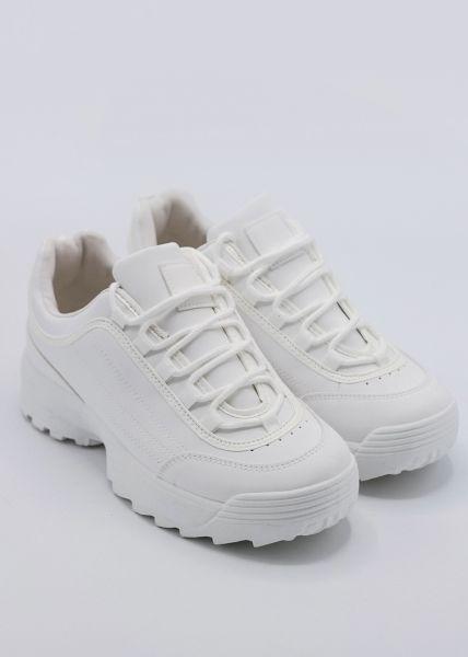 Plateau-Sneaker, weiß