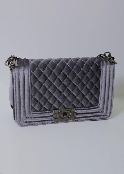 Classy Velvet Bag, grau