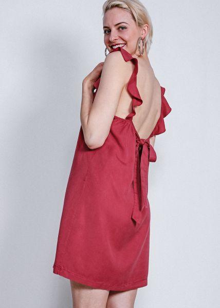 Kleid mit Rückenausschnitt, dunkelrot