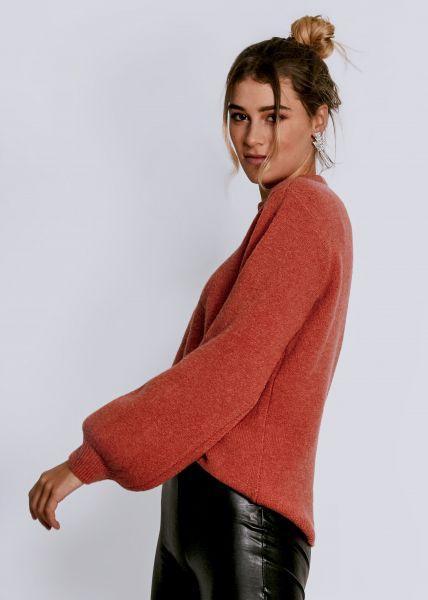 Pullover mit weitem Arm, hummerrot