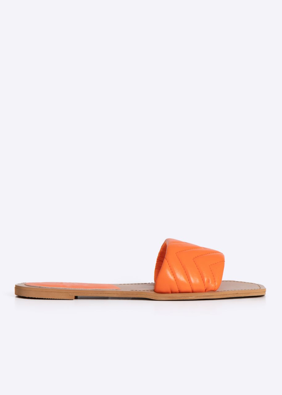 Flats mit gestepptem Steg, orange