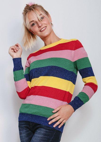 Pullover in Regenbogenfarben