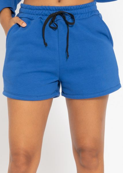Cosy Lounge-Shorts, royalblau