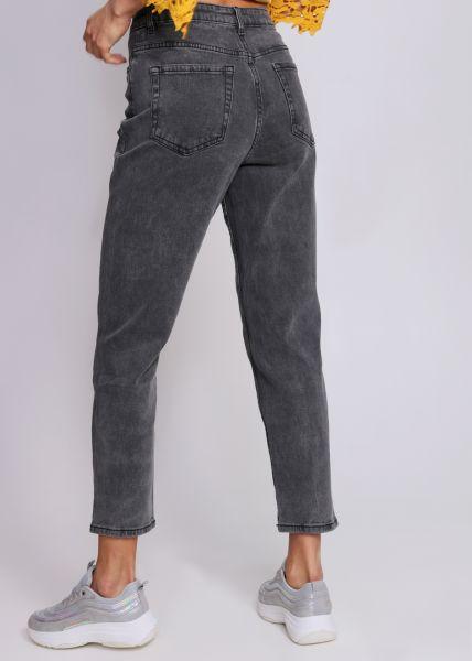 Mom-Jeans, grau