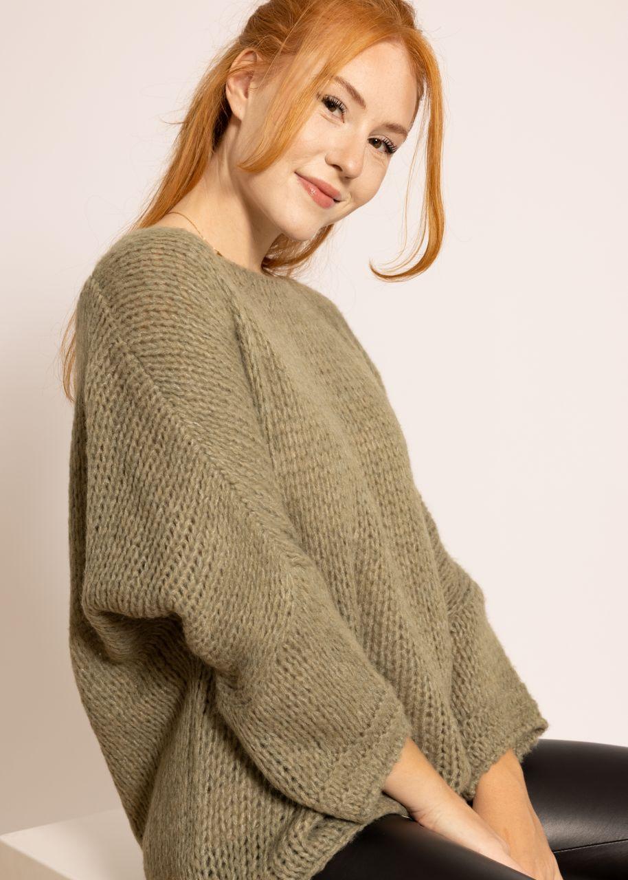 Oversize Pullover, khaki