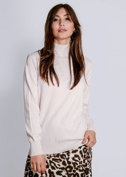 Turtleneck-Pullover, beige