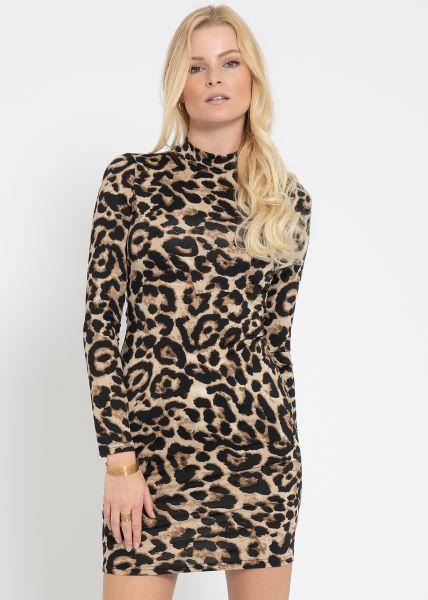 Mini Leo-Kleid aus Jersey, braun