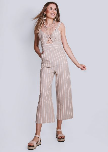 Overall mit Cut-Outs, beige