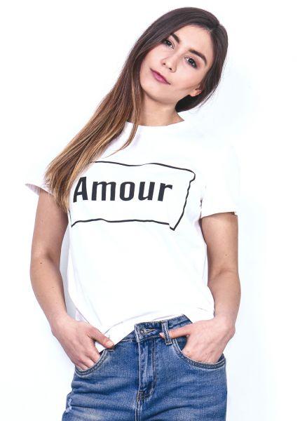 """T-Shirt """"AMOUR"""", weiß"""