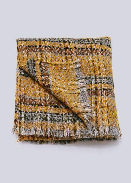 Karo-Schal, gelb