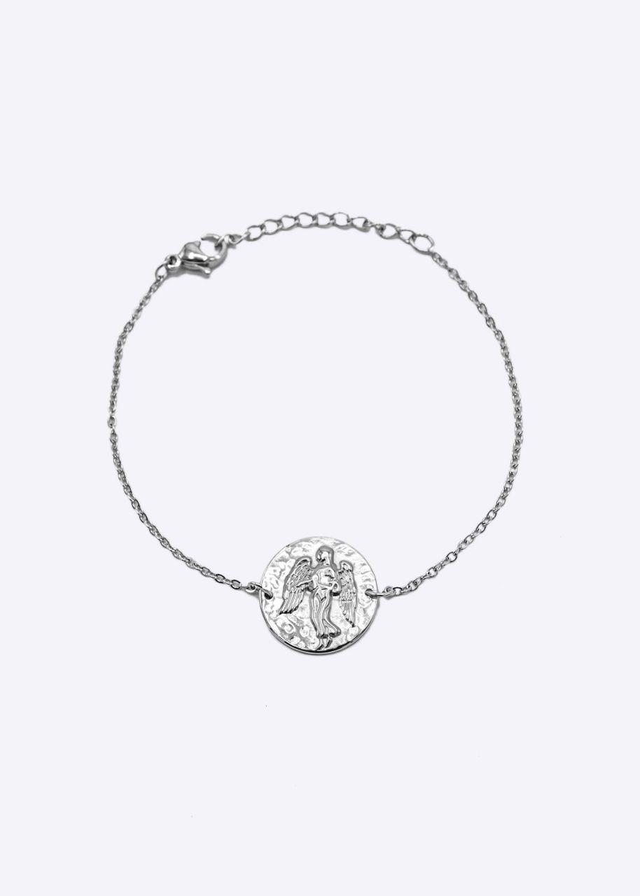 Armkette mit Sternzeichen Jungfrau, silber
