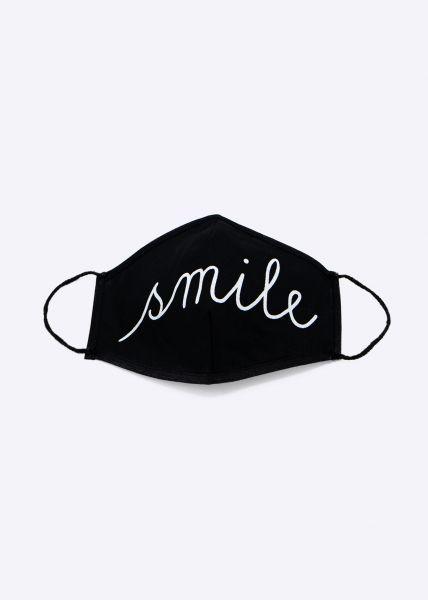 Stoffmaske Smile, schwarz