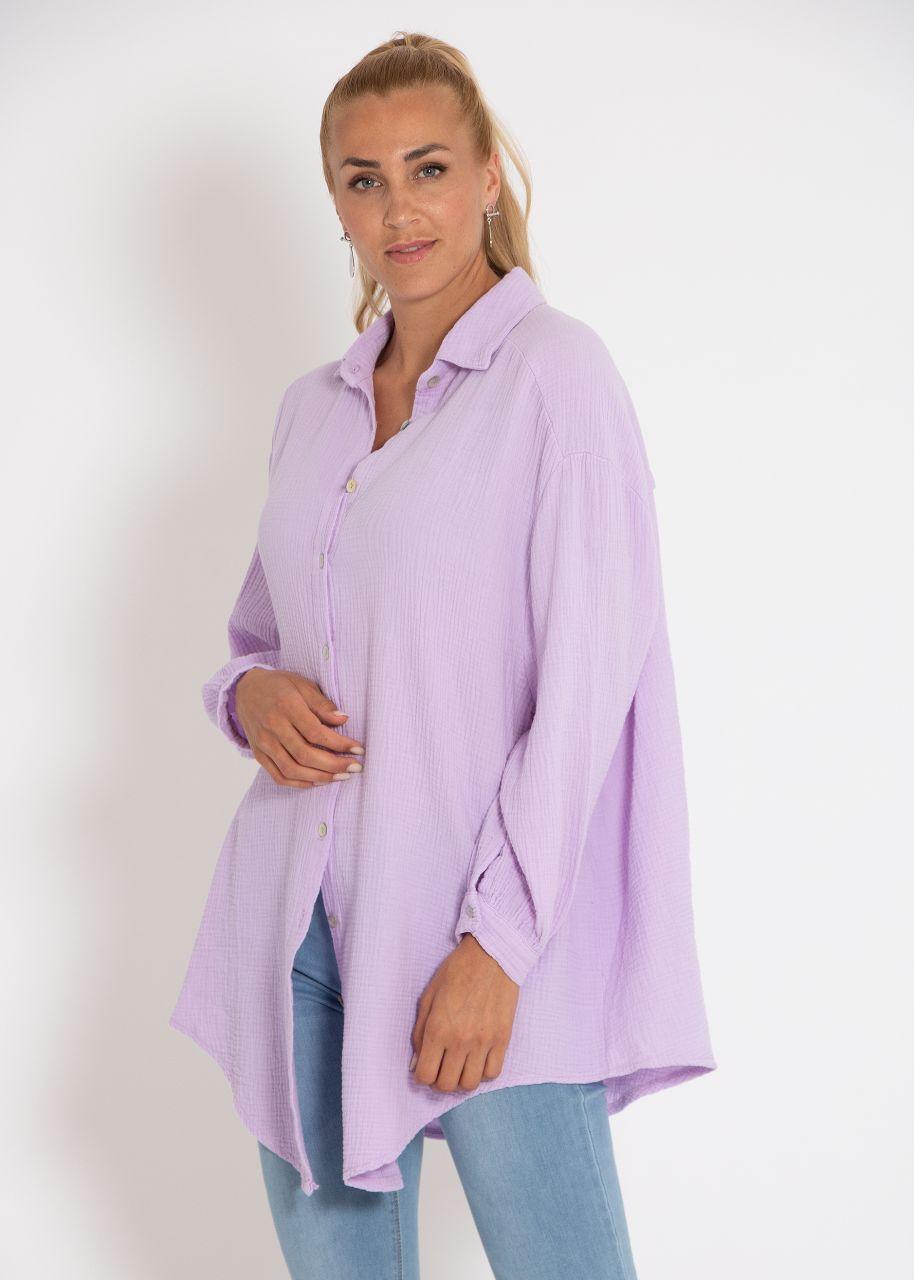 Ultra oversize Blusenhemd, flieder