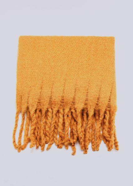 Schal mit langen Fransen, gelb