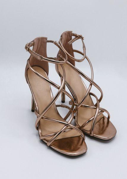 High Heel Sandalette, roségold