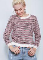 Pullover mit querlaufendem Muster