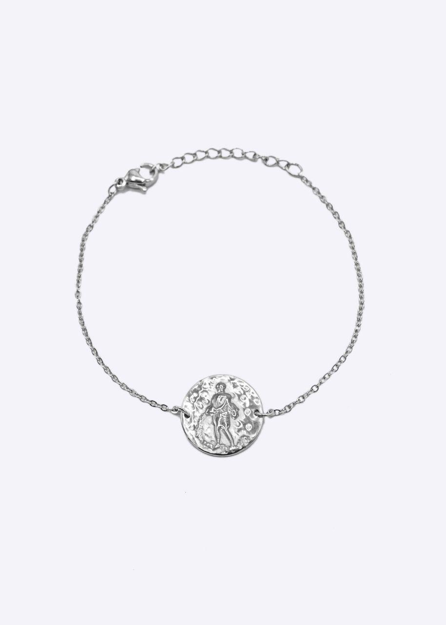 Armkette mit Sternzeichen Wassermann, silber