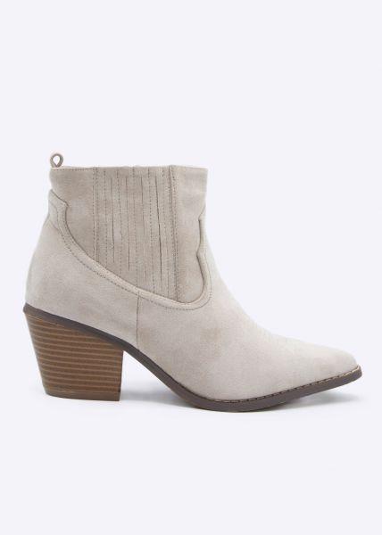 Boots mit Stepp, beige