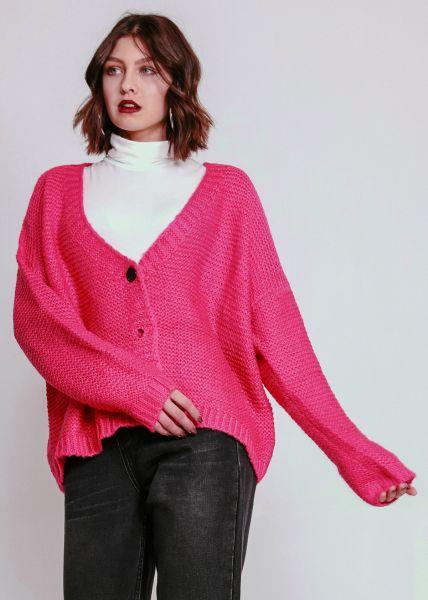 Oversize Cardigan, pink