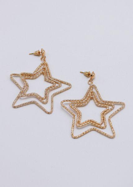 Sternen-Ohrringe, gold