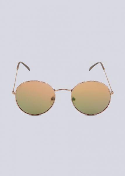 Runde Sonnenbrille, roségold